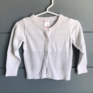 12mo_ button up white cardigan sweater